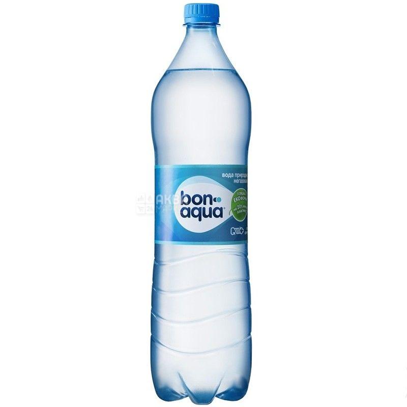BonAqua, 1,5 л, БонАква, Вода минеральная негазированная, ПЭТ