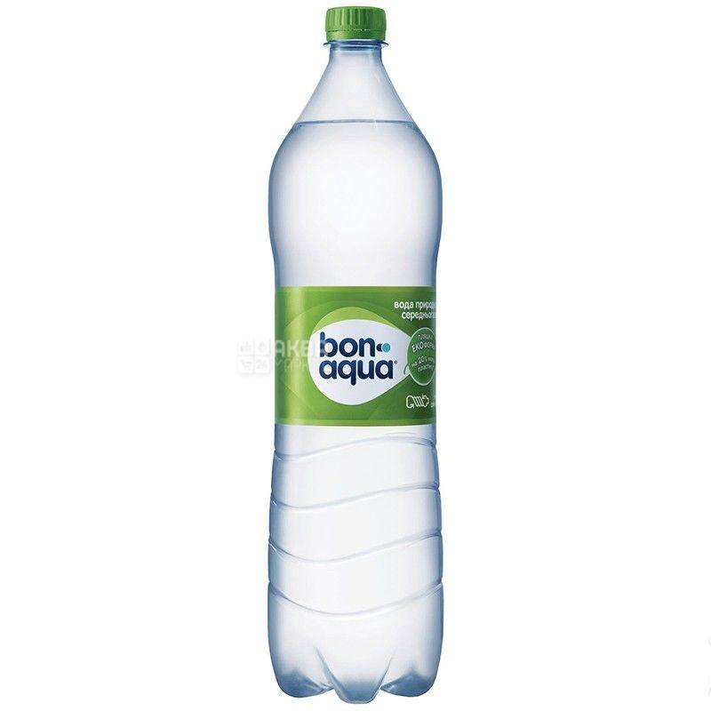 BonAqua, 1,5 л, БонАква, Вода минеральная слабогазированная, ПЭТ