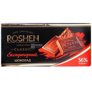 Roshen, 90 г, чорний шоколад, Екстрачорний