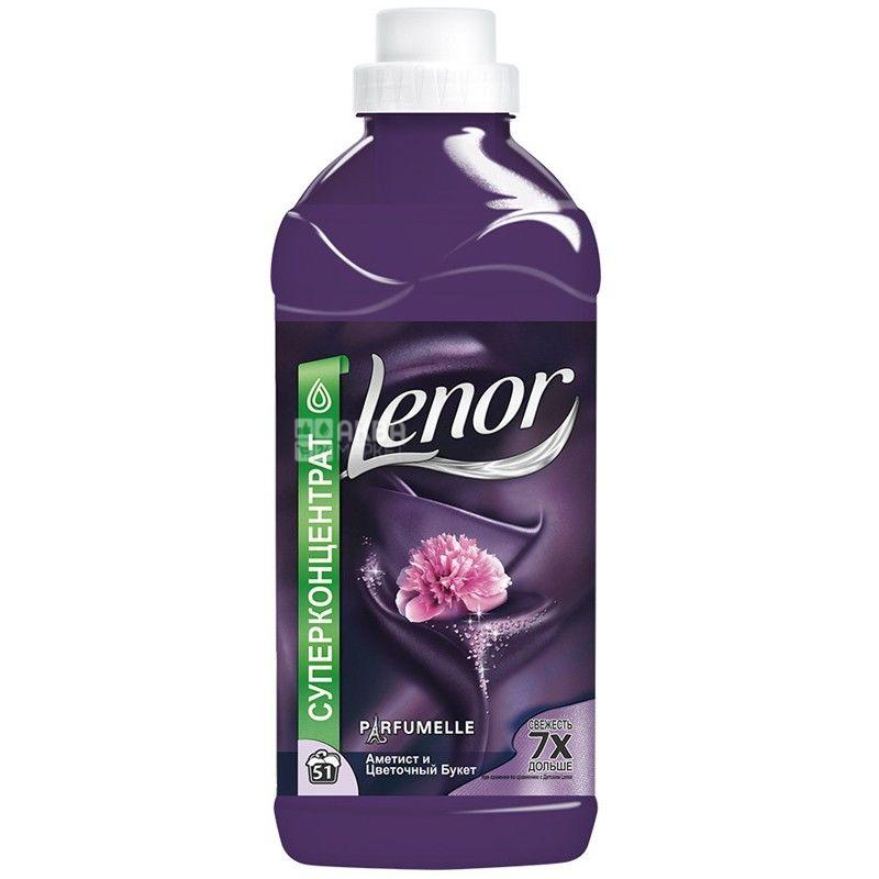Lenor, 1,8 л, кондиционер для белья, Аметист и Цветочный букет
