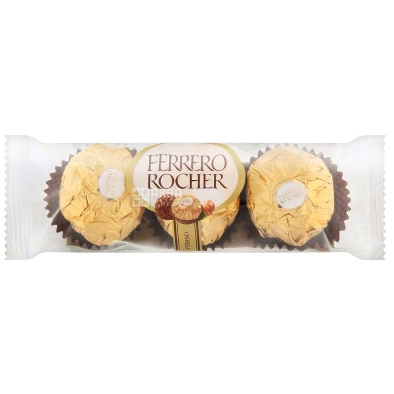 Ferrero Rocher, 37,5 г, конфеты