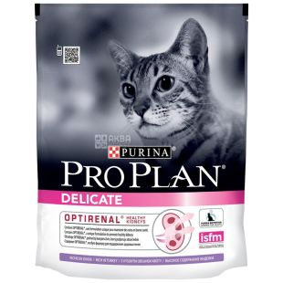 Pro Plan, 400 г, корм для котів, Adult, Delicate, Turkey