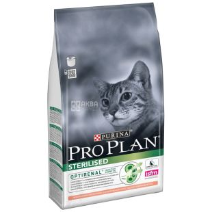 Pro Plan, 1,5 кг, корм для котів, Adult, Sterilised, Salmon