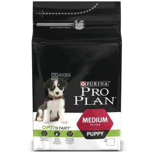 Pro Plan, 3 кг, корм для щенков средних пород, Puppy, Chicken