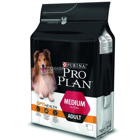 Pro Plan, 3 кг, корм для собак средних пород, Adult, Chicken