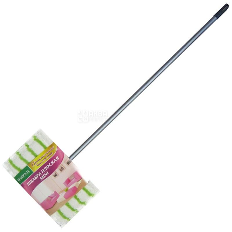 Ergopack Green Magic Mop Mini 5606, Швабра для уборки Эргопак Грин Мэджик Моп Мини, плоская, пластик, 25х15х110 см