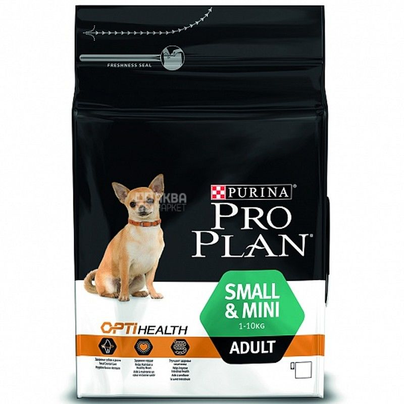 Pro Plan, 3 кг, корм для собак малых пород, Adult, Chicken