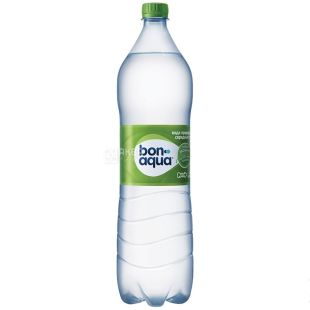BonAqua, Packing 6 pcs. 1.5 l each, lightly carbonated water, PET, PAT