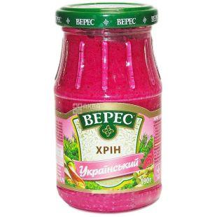 Veres, 190 g, horseradish, Ukrainian, glass