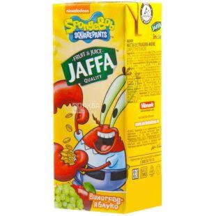Jaffa, 0,2 л, нектар, Виноградно-яблочный, Sponge Bob