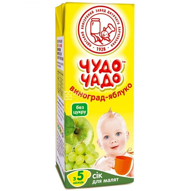 Chudo-Chado, 0.2 l, juice for children, Apple-grape
