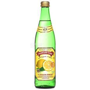 Грузинский Букет, Лимон, 0,5 л, Напиток сильногазированный, стекло