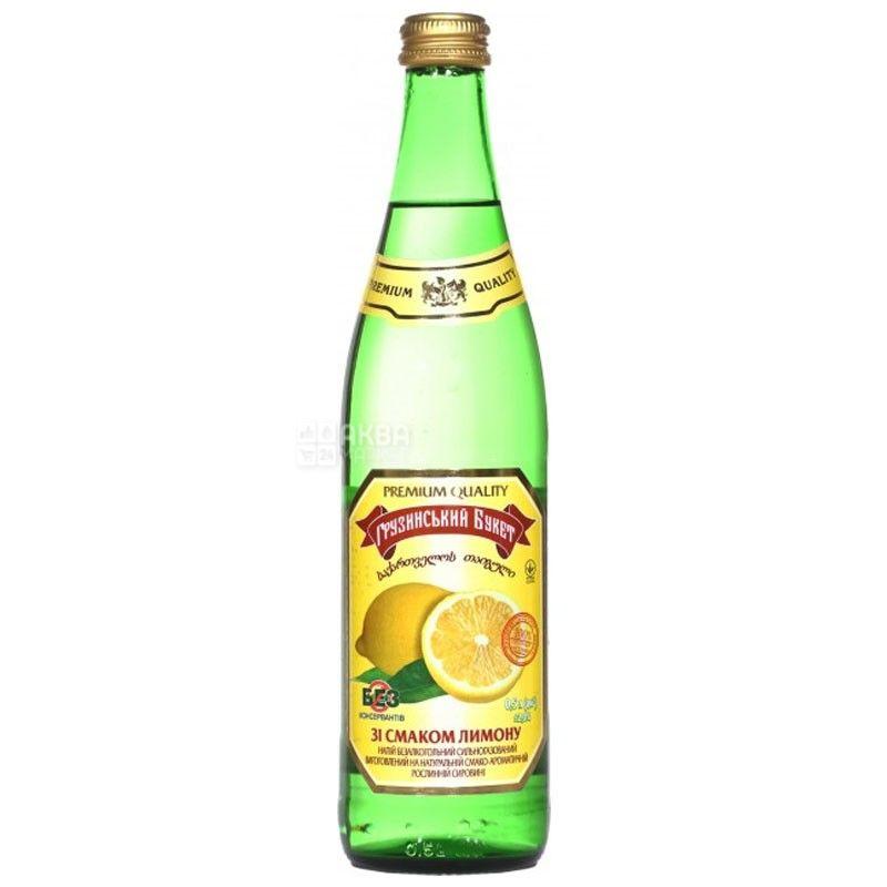 Грузинський Букет, Лимон, 0,5 л, Напій сильногазований, скло