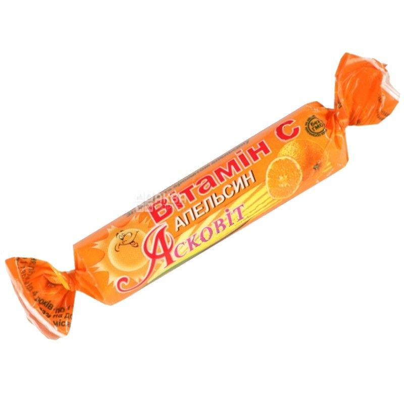 Асковит, 1000 мг, витамин С, Апельсин, м/у