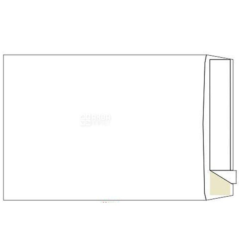 Конверт С4 (229х324 мм) белый 100 шт., с отрывной лентой, ТМ Klerk
