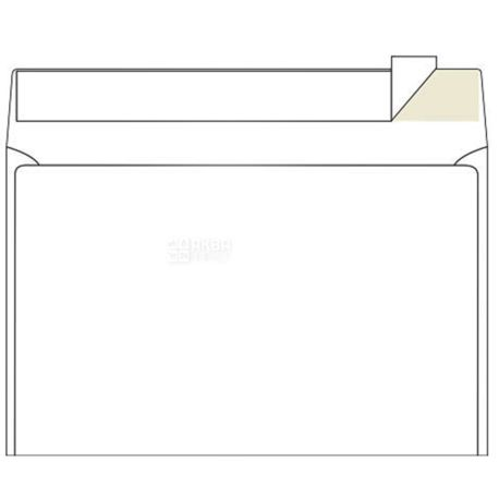 Конверт С5 (162х229 мм) белый 100 шт., с отрывной лентой, ТМ Klerk
