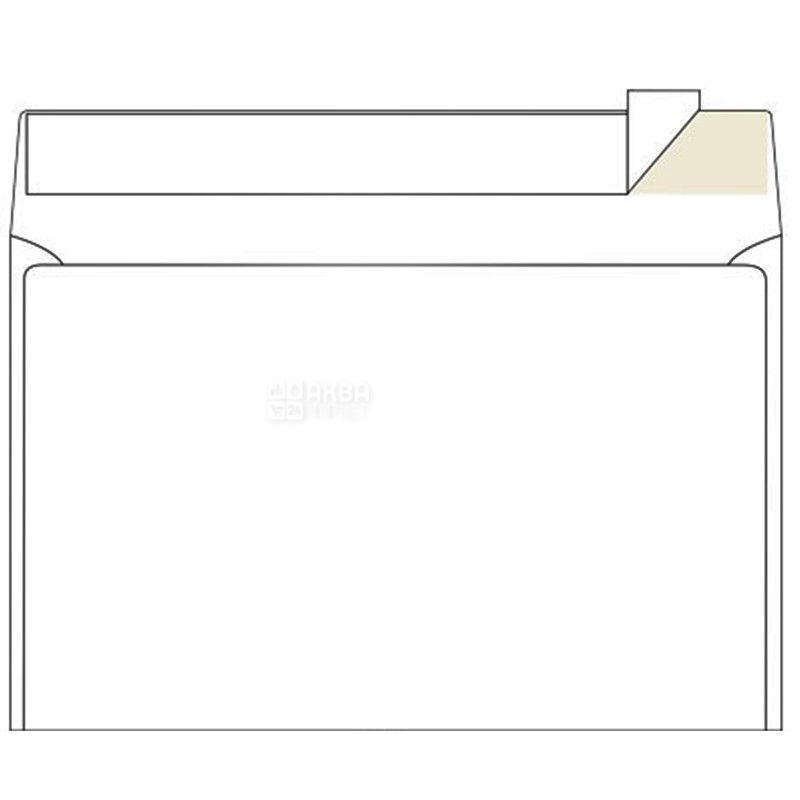 Конверт С5 (162х229 мм) білий 100 шт., з відривною стрічкою, ТМ Klerk