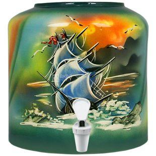 Dispenser, Sailboat, Green