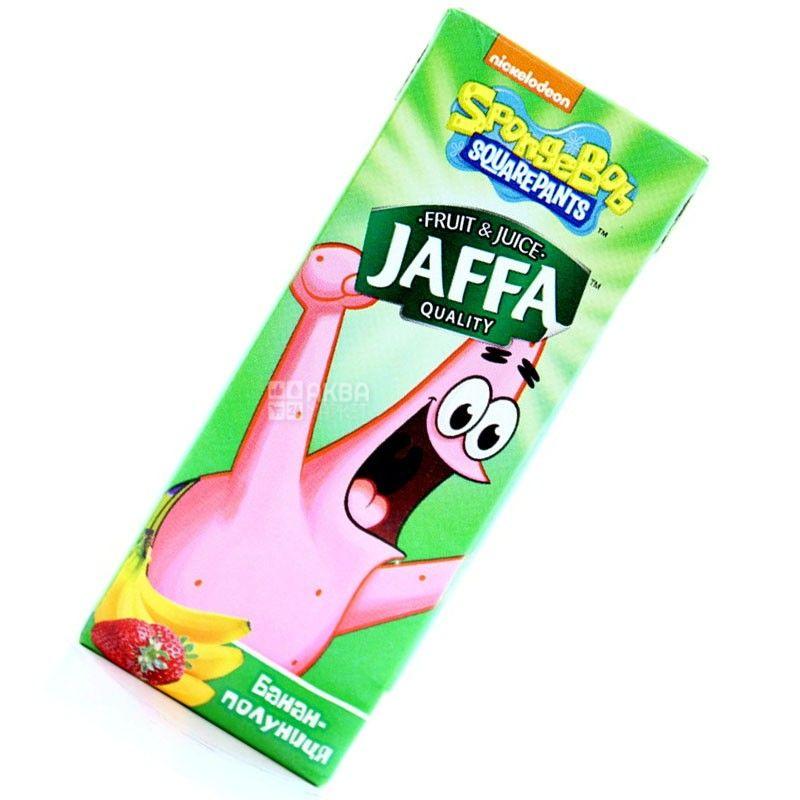Jaffa, Sponge Bob, Банан-полуниця, 0,2 л, Джаффа, Губка Боб, Нектар натуральний, дітям від 3-х років