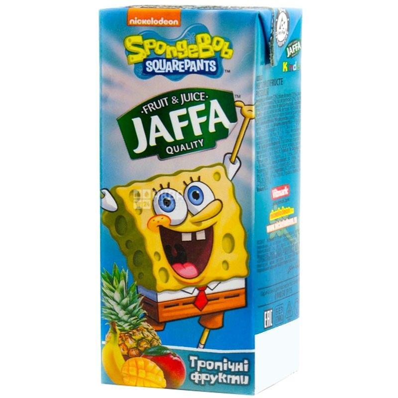 Jaffa, Sponge Bob, Мультифрукт, 0,2 л, Джаффа, Губка Боб, Нектар натуральный, детям от 3-х лет