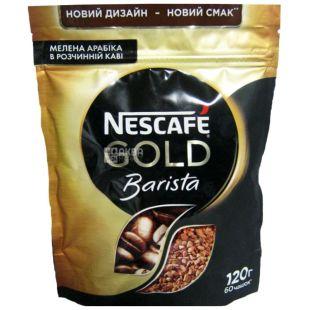 Nescafe, 120 г, растворимый кофе, Gold, Barista