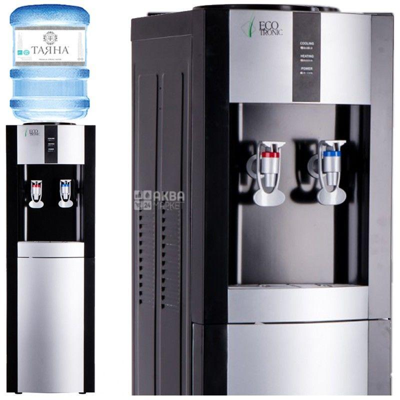 Ecotronic H1-LE Black, Кулер для воды с электронным охлаждением, напольный