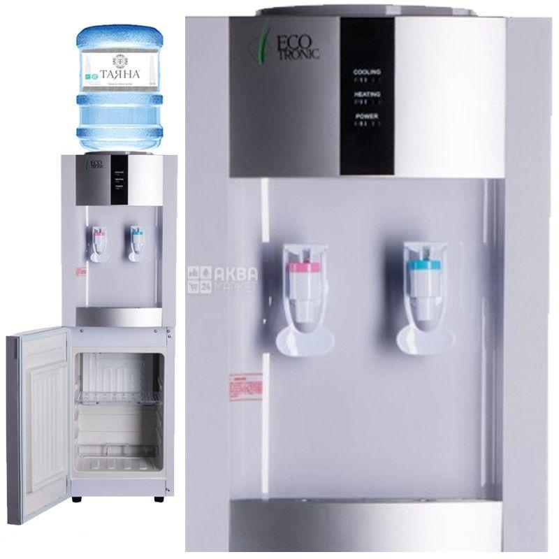 Ecotronic H1-LCE White, Кулер для води з електронним охолодженням, підлоговий