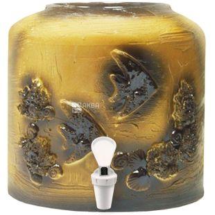 Dispenser ceramic for water, Fish, Molding
