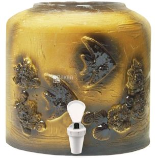 Диспенсер керамический для воды, Рыбки, Лепка