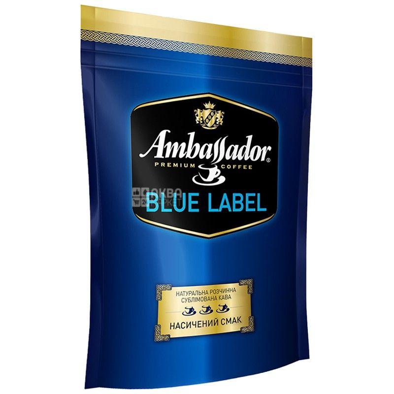 Ambassador, 75 г, розчинна кава, Blue Label