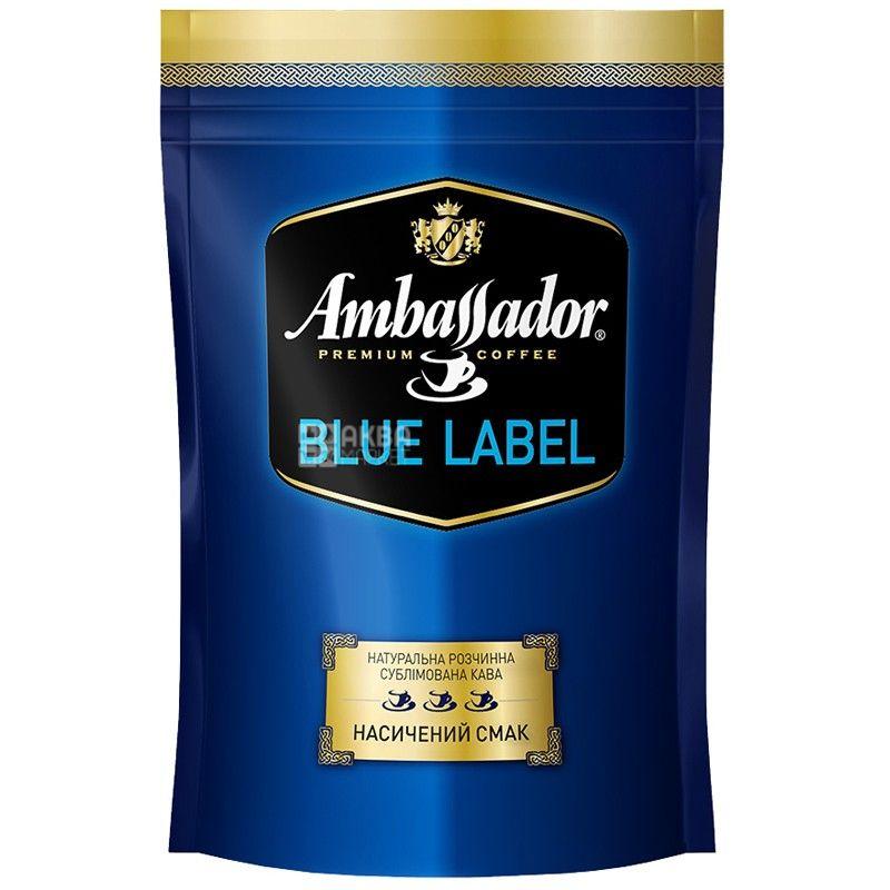 Ambassador, 75 г, расстворимый кофе, Blue Label