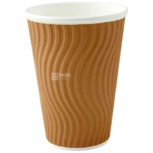 Brown corrugated paper 350 ml, 25 pcs, D92