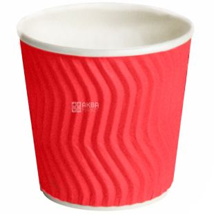 Promtus Glass paper corrugated red 110 ml, 25 pcs, D60