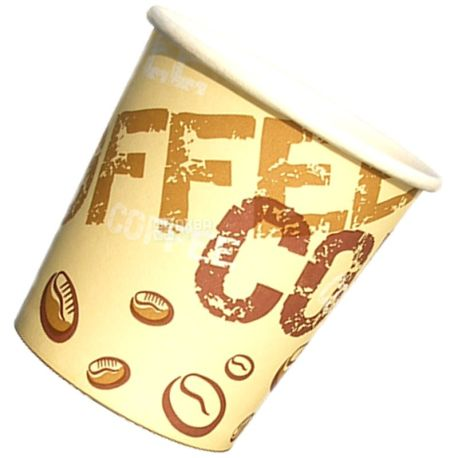 Промтус, 50 шт., 250 мл, стакан бумажный, С рисунком, Coffee Coffee, м/у