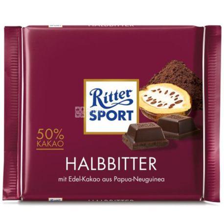 Ritter Sport, 100 г, темний шоколад, Dark Chocolate