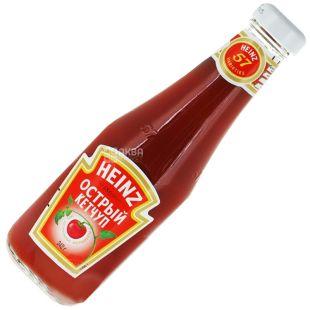 Heinz, 342 мл, кетчуп, острый, стекло