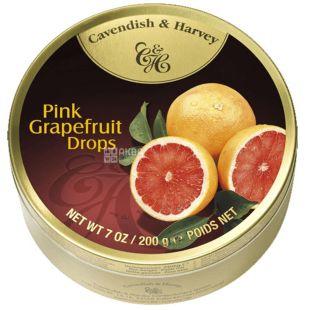 Cavendish & Harvey, 200 g, lollipops, Grapefoot