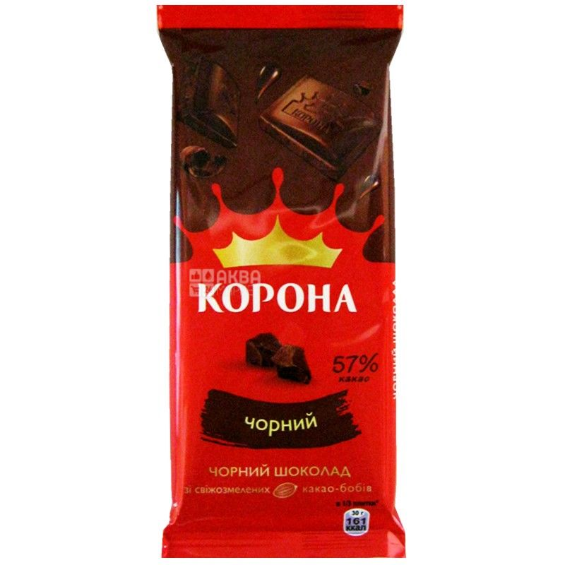 Crown, 90 g, dark chocolate, 57% cocoa