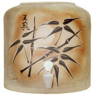 Dispenser, Bamboo, Brown
