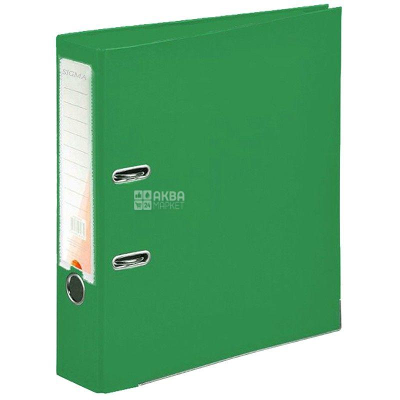 SIGMA, 5 см, папка-реєстратор, Зелена, А4, м/у