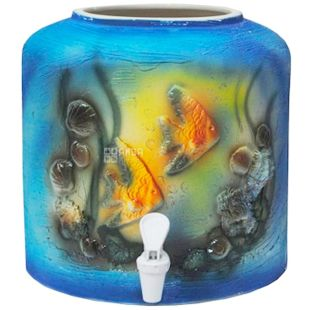 Dispenser for water, Fish, Molding, Blue