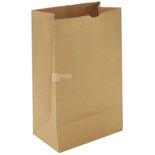Промтус, 120x85x250 мм, бумажный пакет, Без ручек, Коричневый, м/у