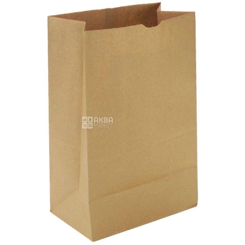 Промтус, 170x120x280 мм, бумажный пакет, Без ручек, Коричневый, м/у