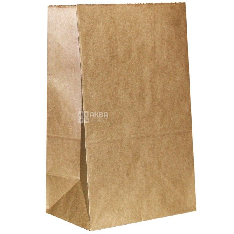 Промтус, 210x115x280 мм, бумажный пакет, Без ручек, Коричневый, м/у