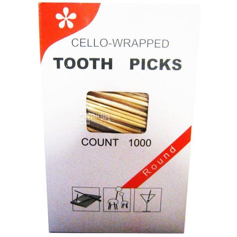 Промтус, Зубочистки в індивідуальній упаковці, 1000 шт.