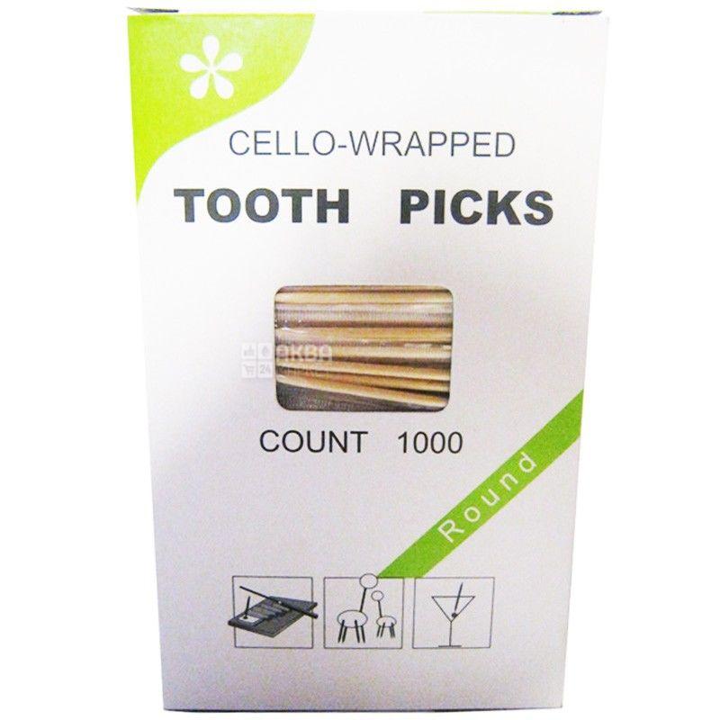 Промтус, Зубочистки с ментолом в индивидуальной упаковке, 1000 шт.