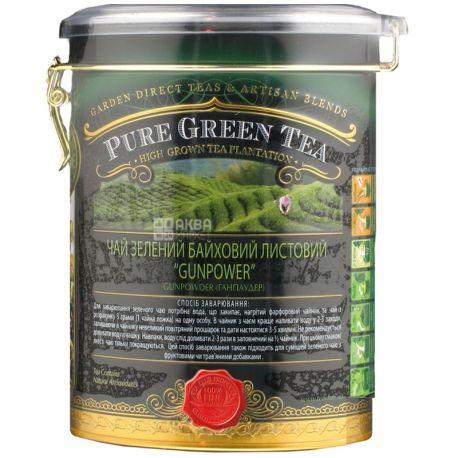 Sun Gardens, 170 г, чай, зеленый, Gunpowder, железная банка