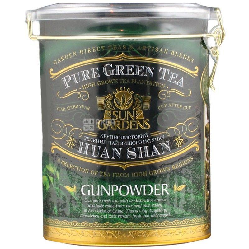 Sun Gardens, 170 г, чай, зелений, Gunpowder, залізна банка