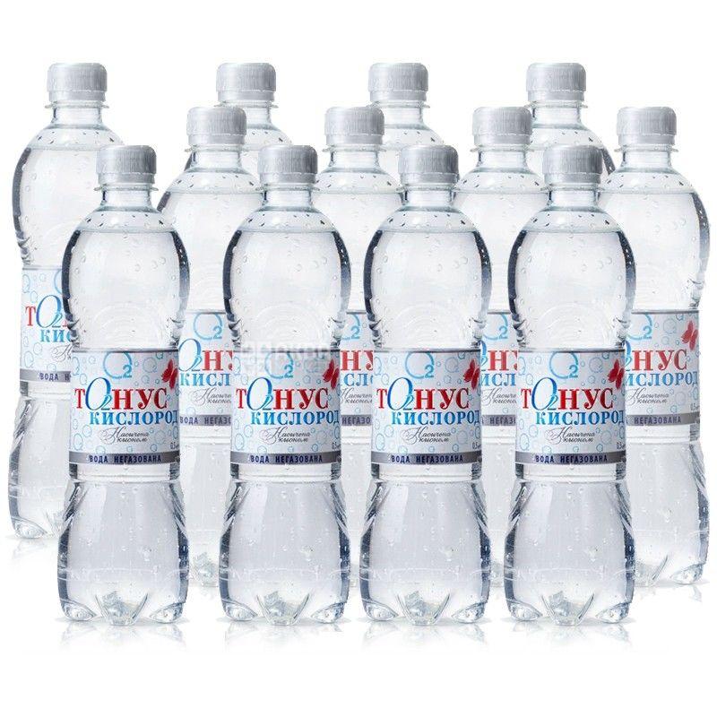 Куяльник Тонус-Кислород, Вода минеральная негазированная, 0,5 л, ПЭТ, Упаковка 12 шт.