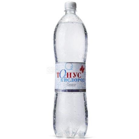 Куяльник Тонус-Кислород, 1,5 л, Упаковка 6 шт., Вода негазированная, ПЭТ